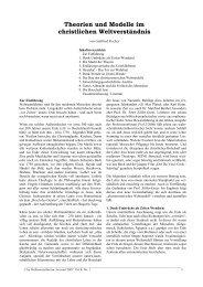 Theorien und Modelle im christlichen Weltverständnis ...