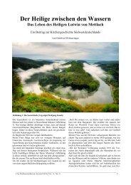 Der Heilige zwischen den Wassern - Das Leben des Heiligen Lutwin ...