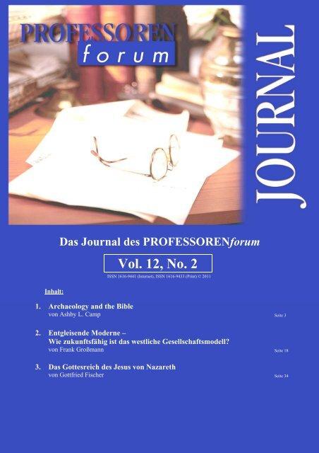 Das Journal des PROFESSORENforum Vol. 12, No. 2