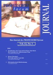 Das Journal des PROFESSORENforum Vol. 12, No. 1