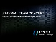 rational team concert - PROFI Engineering Systems AG