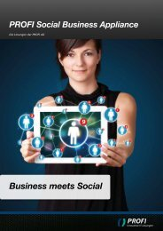Business meets Social - PROFI Engineering Systems AG