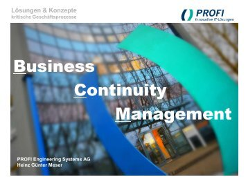 Lösungen & Konzepte - PROFI Engineering Systems AG
