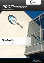 Oculentis - PROFI Engineering Systems AG
