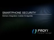 Security - PROFI Engineering Systems AG