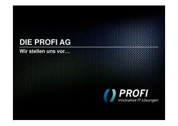 PROFI Unternehmenspräsentation - PROFI Engineering Systems AG