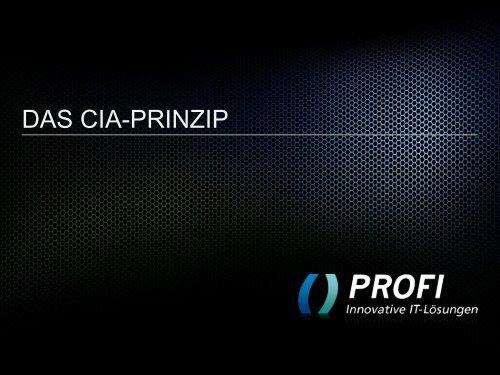PROFI-Business-Frühstück-CIA-Prinzip-Peter-Lange