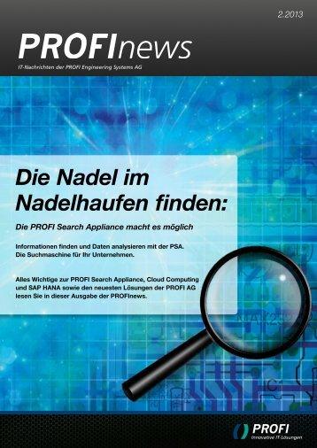 PROFInews Ausgabe 2-2013 als PDF - PROFI Engineering Systems ...