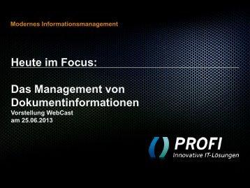 PROFI Präsentation - PROFI Engineering Systems AG