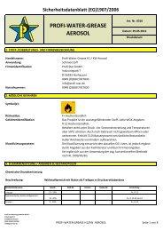 profi-water-grease aerosol - Profi-Star Wartungsprodukte GmbH
