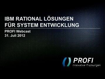 ibm rational lösungen für system entwicklung - PROFI Engineering ...