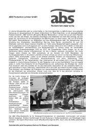 ABS Production Lohmar GmbH - Profile Regierungsbezirk Köln