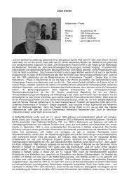 Jean Clover, Neunkirchen - Profile Regierungsbezirk Köln