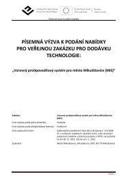 Výzva k podání nabídky na Varovný protipovodňový ... - Mikulášovice