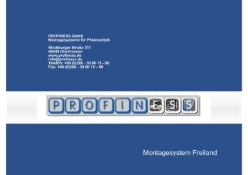 Montagesystem Freiland - Profiness-schrauben.de