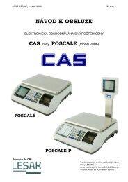 CAS POSCALE 06 - návod k obsluze CZ - Váhy