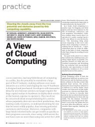 A view of cloud computing - ACM Digital Library