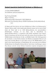 Deutsch-Japanische Gesellschaft Nordwest zu ... - DJG Oldenburg