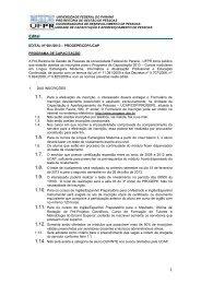 Edital 01/2013 - progepe - Universidade Federal do Paraná