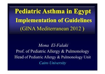 Pediatric Asthma in Egypt Implementation of ... - Progetto LIBRA