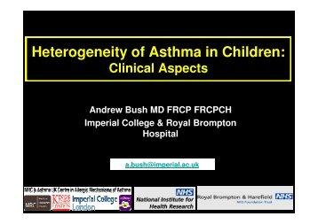 Paediatric severe asthma - Progetto LIBRA