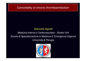 Comorbidity of chronic thromboembolism - Progetto LIBRA