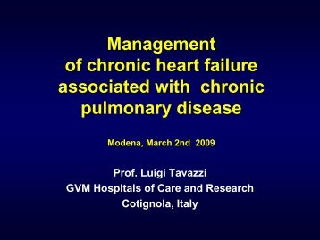 Therapeutic approach in CHF and COPD: Beta ... - Progetto LIBRA