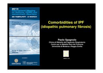 Comorbidities of IPF - Progetto LIBRA