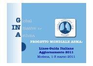 PROGETTO MONDIALE ASMA: - Progetto LIBRA