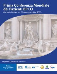 Prima Conferenza Mondiale dei Pazienti BPCO - Progetto LIBRA