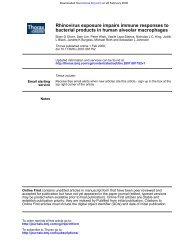 bacterial products in human alveolar macrophages ... - Progetto LIBRA