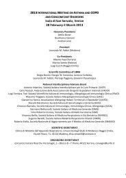 2013 I COPD Isola di San Servolo, Venice 28 ... - Progetto LIBRA