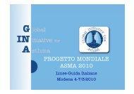 PROGETTO MONDIALE ASMA 2010 - Progetto LIBRA