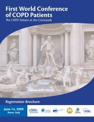 First World Conference of COPD Patients The ... - Progetto LIBRA