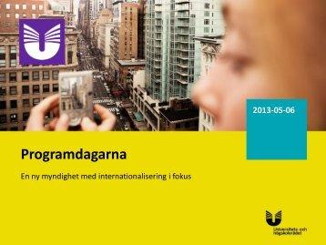 Programdagarna - Internationella programkontoret för ...