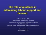 The role of guidance in adressing labour support and deman