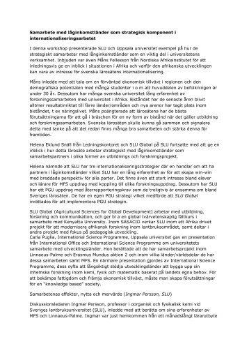 Anteckningar workshop 7 (pdf) - Internationella programkontoret för ...