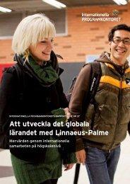 Att utveckla det globala lärandet med Linnaeus-Palme