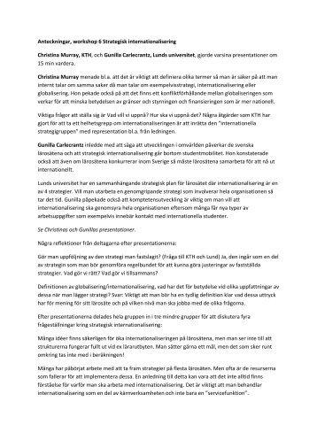Anteckningar workshop 6 (pdf) - Internationella programkontoret för ...