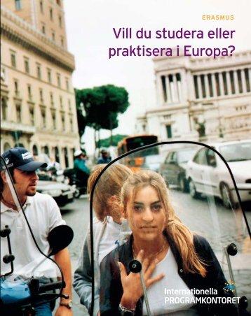 Vill du studera i Europa? - Erasmus för studenter (pdf)