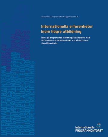 Internationella erfarenheter inom högre utbildning (pdf)