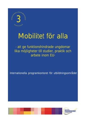 Mobilitet för alla - att ge funktionshindrade ungdomar lika ...