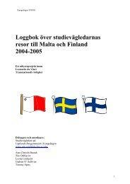 Loggbok över studievägledarnas resor till Malta och Finland