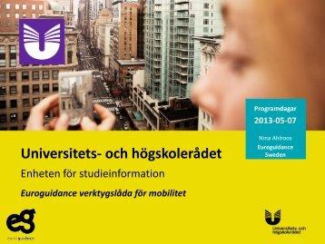Presentation workshop 1 (pdf) - Internationella programkontoret för ...
