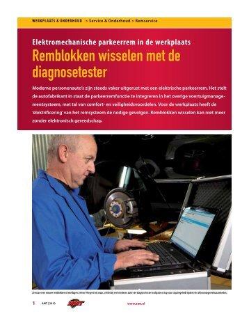 Elektromechanische parkeerrem in de werkplaats - AMT.nl