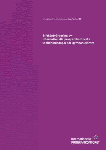 slutrapport (pdf) - Internationella programkontoret för ...