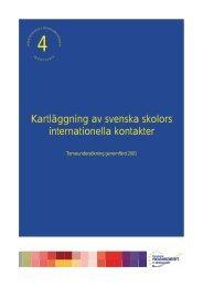 Kartläggning av svenska skolors internationella kontakter (pdf)