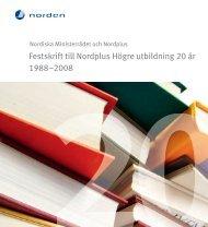 Festskrift till Nordplus Högre utbildning 20 år (pdf) - Internationella ...