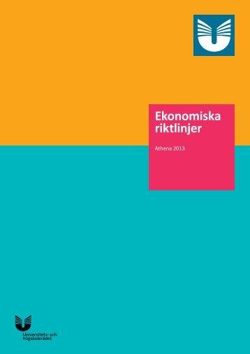 Ekonomiska riktlinjer - Internationella programkontoret för ...