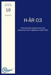 Högskoleenhetens årsredovisning 2003 (pdf) - Internationella ...